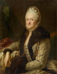 portrait of princess maria kunigunde of saxony (1740-1826) by anton graff