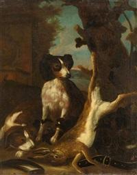 hund mit erlegtem hasen by jan fyt