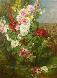 roses trémières by georges jeannin