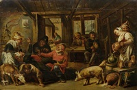 in der schenke by willem van herp the elder