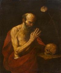 saint anthony at prayer by hendrick van somer