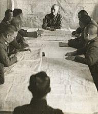 general chiang kai-shek at the supreme war council by robert capa