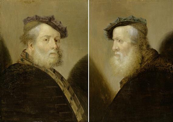 herrenporträts pair by rembrandt van rijn