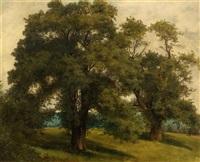 landschaft mit bäumen by alexandre calame