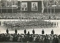 parade in celebration of the tenth anniversary of the people's republic, china 1958 by henri cartier-bresson