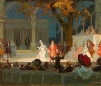 theaterszene by charles hoffbauer