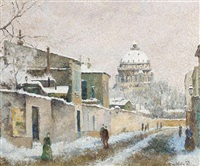 le village de la neige by lélia pissarro