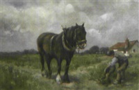 bauer mit pferd by william g. skinner