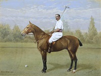 the polo player by frank paton