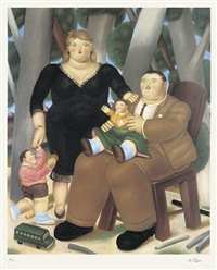 family group by fernando botero