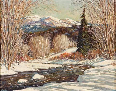 winter along the winding river by ben turner