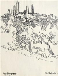 san gimignano (2 works) by fritz bleyl