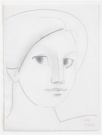 head of a woman by françoise gilot