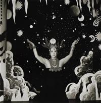 velasquez meets kabuki; lure of psychic; self portrait; untitled (4 works) by steven arnold