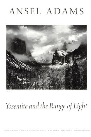 yosemite and the range of light by ansel adams