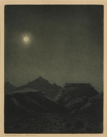 desert night by george elbert burr