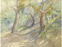 trees along a path by marion kavanaugh wachtel