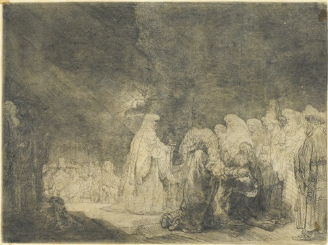the presentation in the temple by rembrandt van rijn