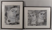 aphrodesian fragment 1 & 2 (2 works) by judy rifka