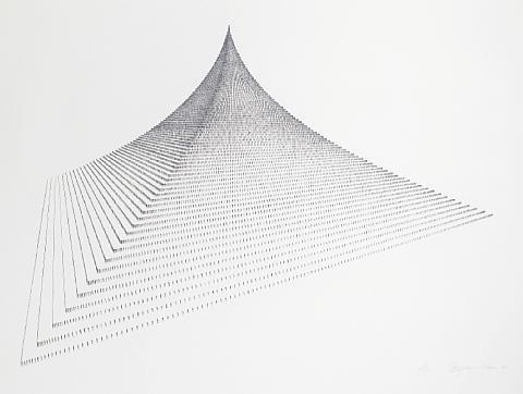 probability pyramid ii by agnes denes