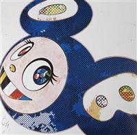and then x6 (marine blue: the superflat method) by takashi murakami