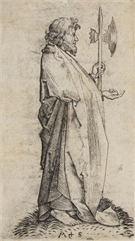 st. matthew, from the twelve apostles by martin schongauer