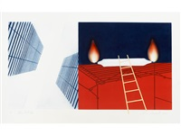 towel, star, sunglasses; other great cities (2 works) by james rosenquist