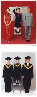 family aspirations: academic degree; family aspirations: patriotism (2 works) by weng fen (weng peijun)