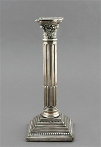 corinthian columnar weighted candlesticks (set of 4) by nathan & hayes