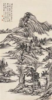 溪山烟霭图 by xi gang