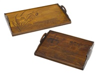 trays by émile gallé