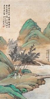 看竹何须问主人 by huang shanshou