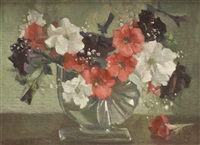 petunias in glass by marguerite stuber pearson