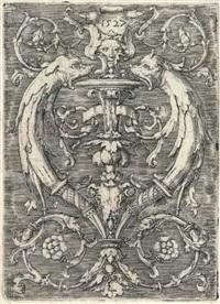 ornamentale komposition mit delphinen by lucas van leyden