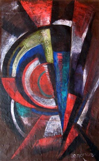 geometric abstract composition by liubov popova