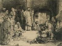 christus lehrend (la petite tombe) by rembrandt van rijn