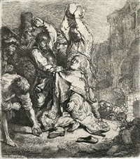die steinigung des hl. stephanus by rembrandt van rijn