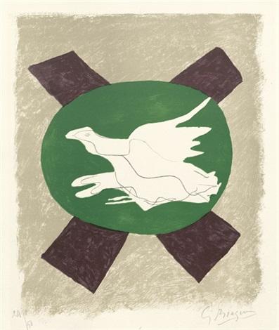 oiseaux sur fond de x by georges braque