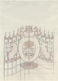 study for gates - study # 49 by wim delvoye