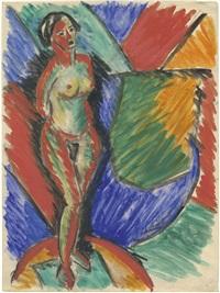 weiblicher akt, stehend by heinrich ehmsen