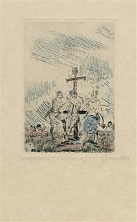 supplice de st. barthélemy (l'écorché) by james ensor