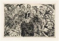 masques intrigués by james ensor