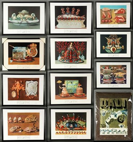 les diners de gala suite (collection of 12 works) by salvador dalí