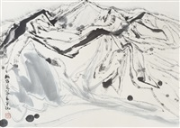 abstract landscape by zhou shaohua