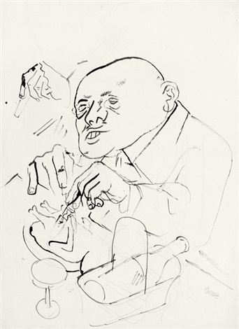 der fresser another verso by george grosz