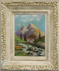 mountain scene by marion kavanaugh wachtel