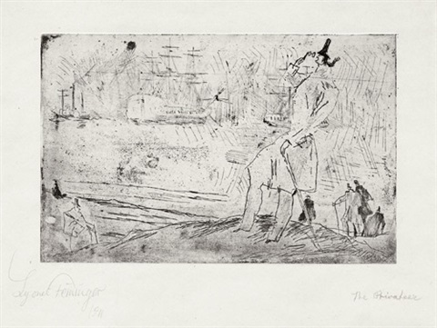 the privateer der reeder by lyonel feininger