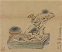 lingzhi and rock by wu hufan and pan jingshu