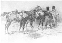 soldats et chevaux by louis dunki