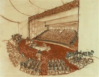 untitled (interior of a concert hall) by richard neutra